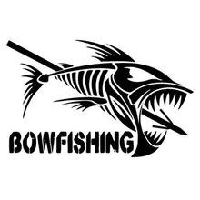 13.6cm*8.5cm Bow Fishing Fashion Car Styling Interesting Fashion Stickers Decals Vinyl Car Stickers carcardo 40cm x 200cm car headlight taillight tint vinyl film sticker car smoke fog light viny stickers decals car styling