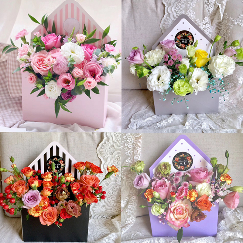 New Fashion Envelope Box Flower Packaging Floral Bouquet