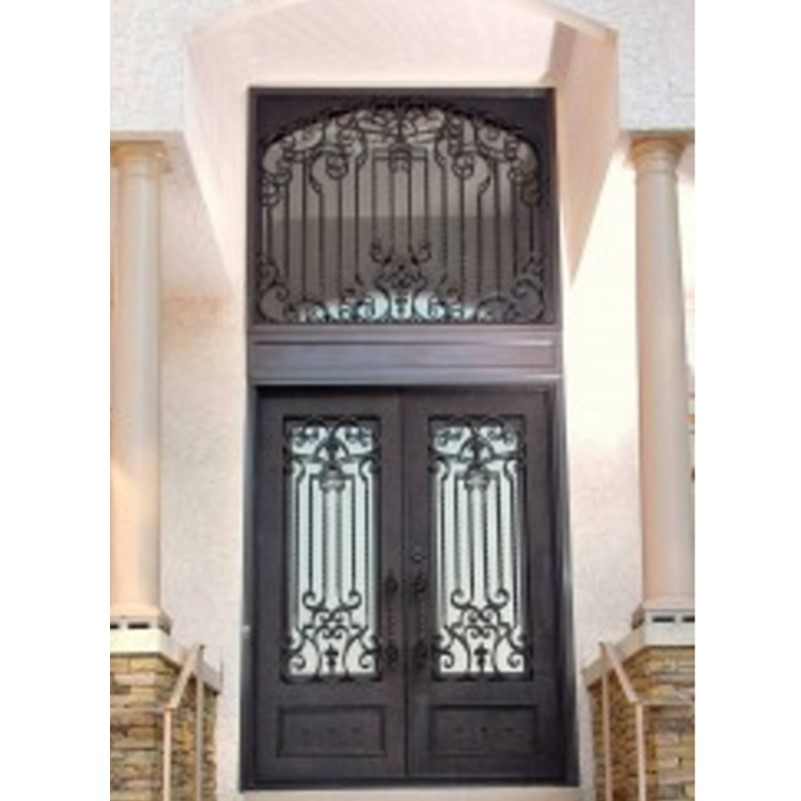 Hench 100% Steel Metal Iron Front Door Glass American