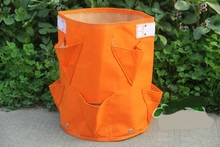 Расти сумки клубника плантатор мешок войлок посадка мешок большой емкости только садоводство посадки мешки 8 карманы