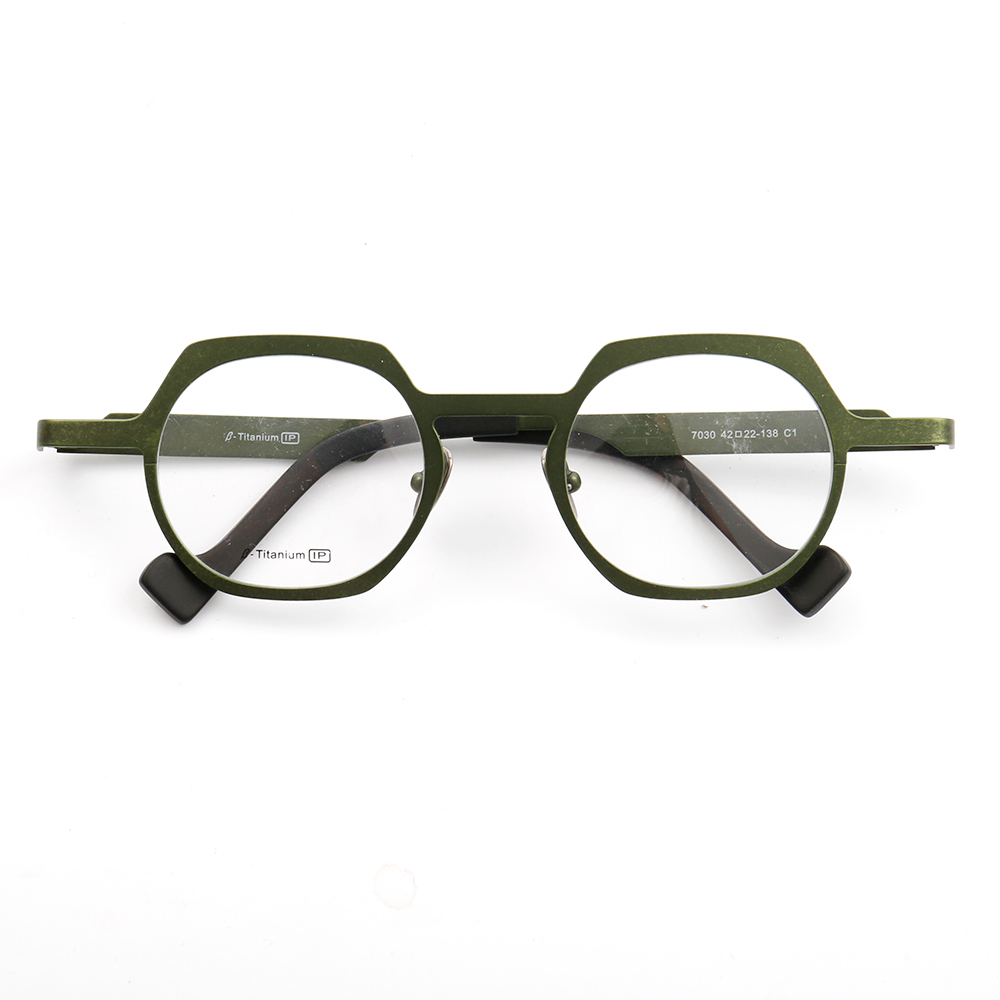 YOUTOP Unisex B-Titanium Premium Material Round Shield Shaped Non Prescription Eyeglass Frames 7030