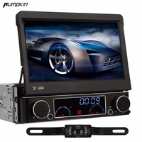 Pumpkin 7 Detachable 1Din Car DVD Player Universal Stereo Audio Radio Headunit With Bluetooth Device GPS
