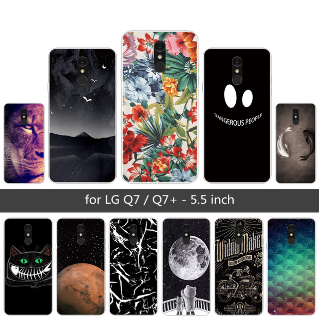 best service 647d0 4b9c3 US $0.85 32% OFF|5.5 inch for Funda LG Q7 LG Q7+ Phone Case Soft TPU  Transparent Shell for LG Q7 Q7+ Lion Back Cover Luxury Silicone Gel Capa-in  ...