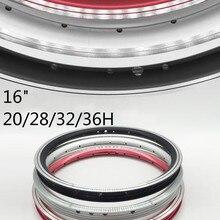 """16 дюймов велосипедный обод двойной слой из алюминиевого сплава кольцо/20/28/32/36 отверстие для SRA683 KT510 1"""" велосипедная ободная высокого качества"""
