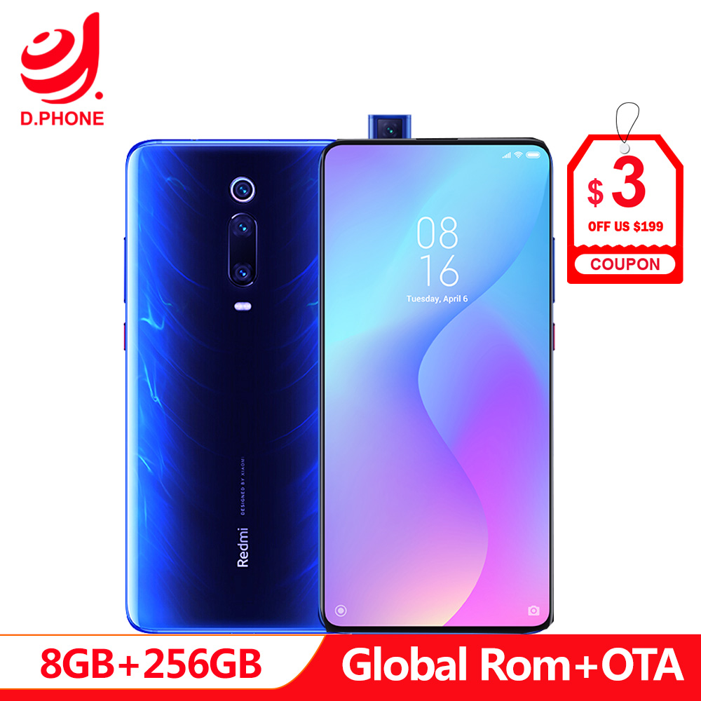 Ufficiale Globale Rom Xiaomi Redmi K20 Pro 8 GB 256 GB Smartphone Snapdragon 855 Octa Core 4000 mAh Pop- up Fotocamera Frontale 48MP Macchina Fotografica