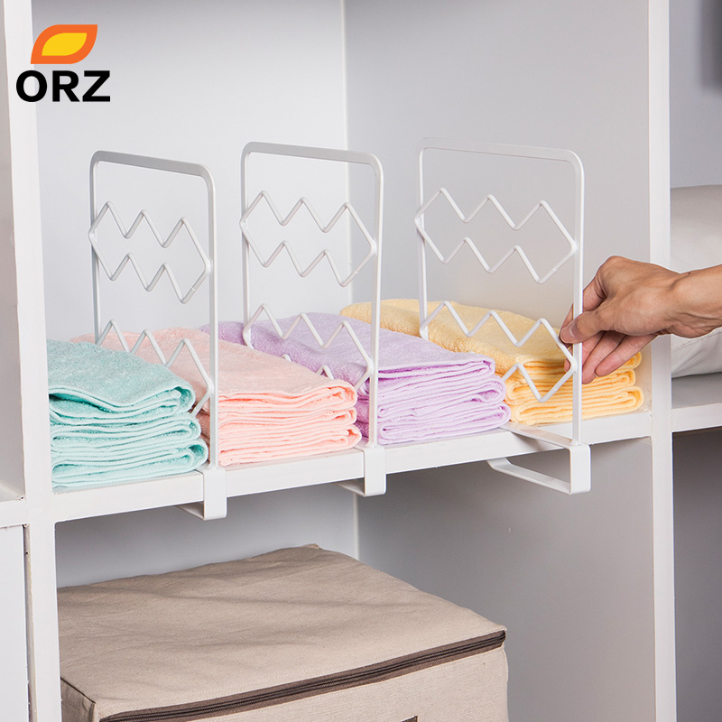 Elegant ORZ 3PCS Thicken Closet Shelf Dividers Clothes Organizer Wardrobe Cupboard  Partition Board Shelves Household Storage Rack