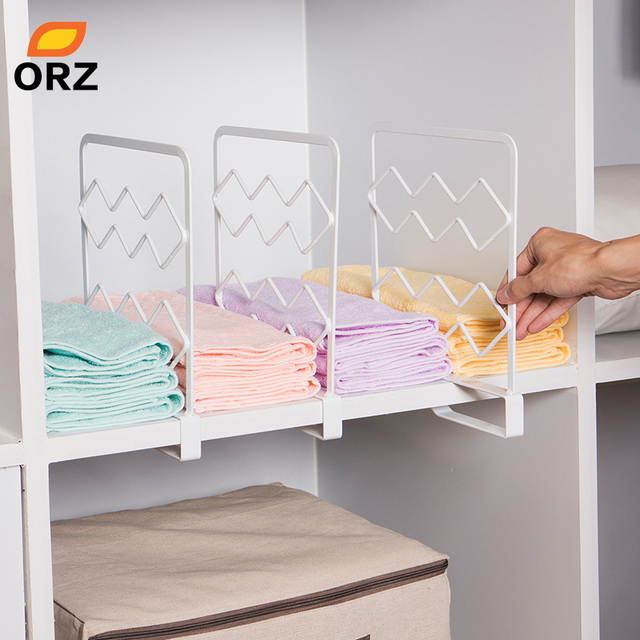 Orz 3pcs Thicken Closet Shelf Dividers Clothes Organizer