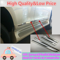 For T0Y0TA Prado FJ150 2010 2011 2012 2013 Car Cover Detector Stainless Steel Side Door Body