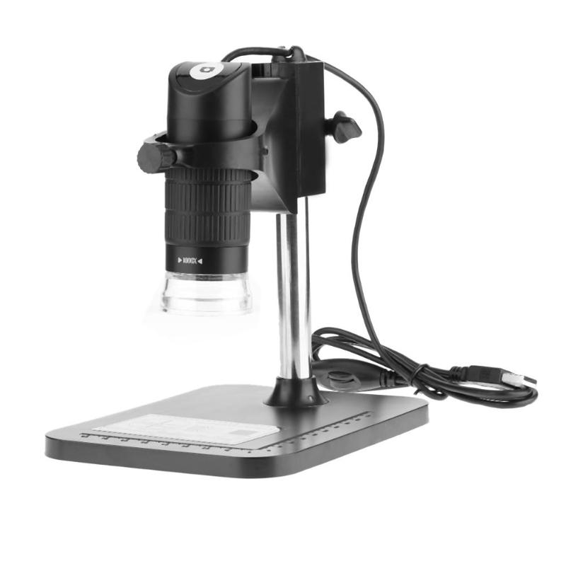 100X-1000X 5MP USB Tenuto In Mano Portatile 8 LED Elettronico Digitale Microscopio Lente di Ingrandimento