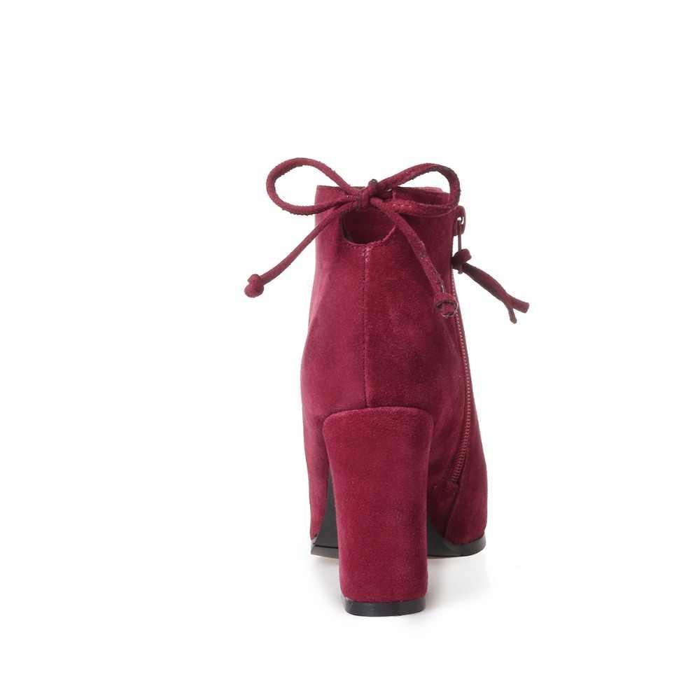 Женские замшевые полусапоги FEDONAS, белые полусапожки из натуральной кожи с острым носком, обувь 34-43 размеров на зиму 2019