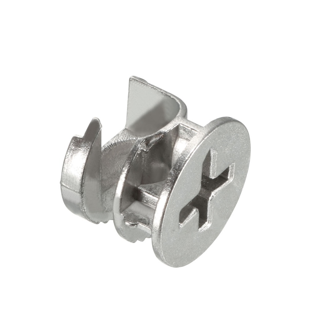 uxcell 20 Sets Furniture Connecting 15mm OD Cam Fitting Copper Tone with Dowel Nut
