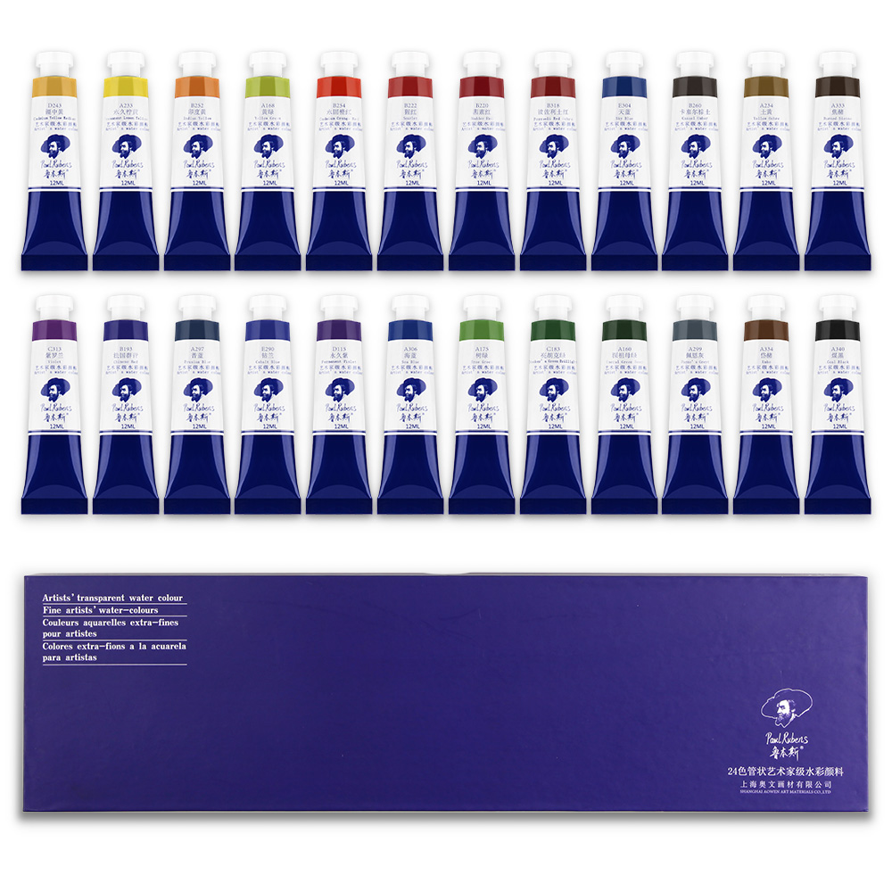Paul Rubens Watercolor Paint Set Extra Fine Highly Pigmented Paint 24 Colors X12ml Tubes Perfect For Hobbyis Arrtist