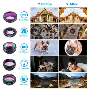 Image 2 - APEXEL 10in1 電話カメラレンズキットフィッシュアイ広角マクロ 2X 望遠鏡レンズ iphone huawei samsung galaxy android celphones