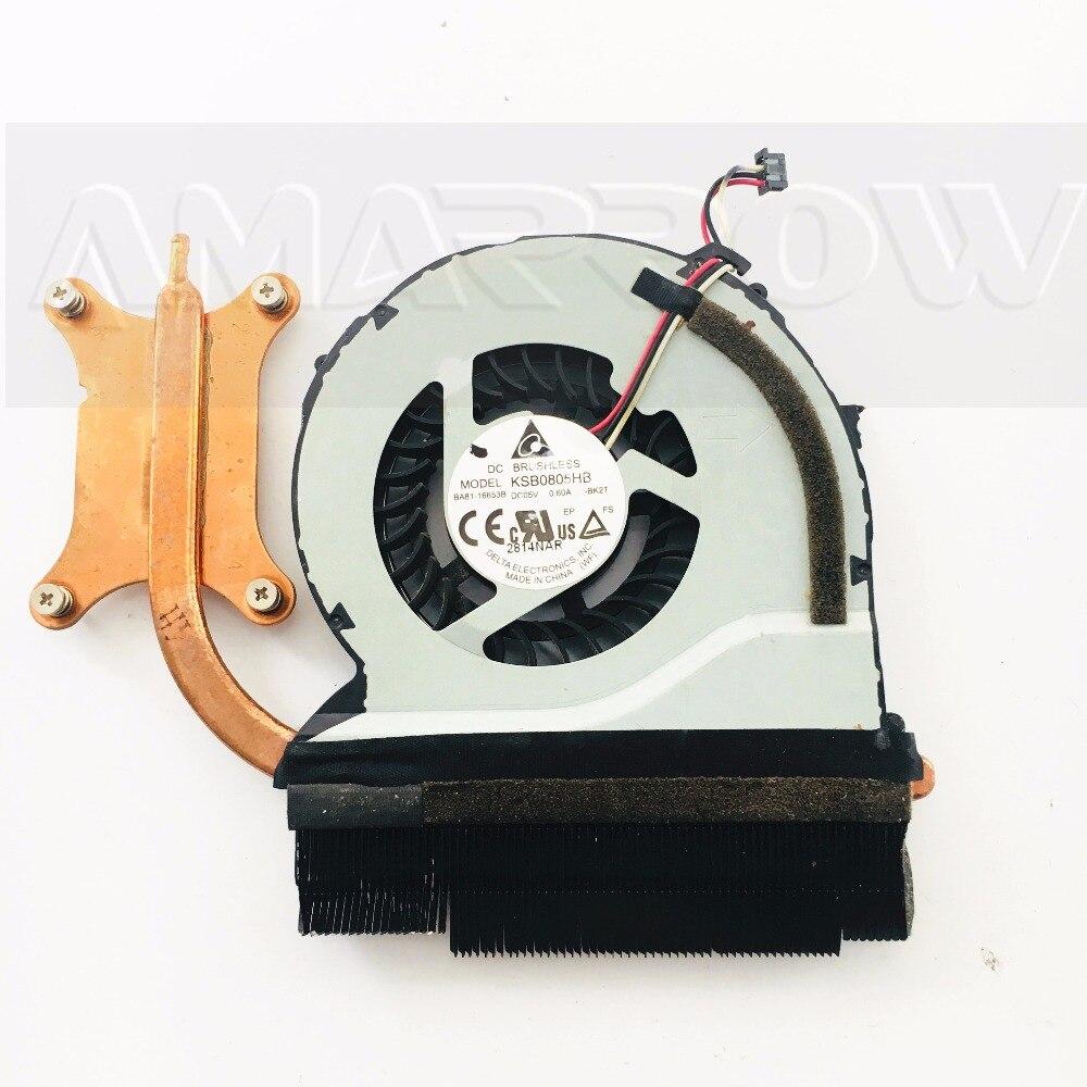 Original Laptop Heatsink Cooling Fan Cpu Cooler For SAMSUNG NP550P5C NP550P7C CPU Heatsink Fan BA62-00766A