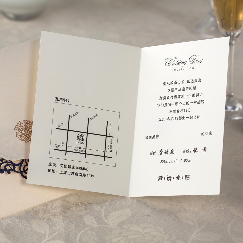Aliexpress.com : Marineblau Laser Rand Design Hochzeit Einladungskarten, Hochwertige  Einladungskarten, Hochzeitsdekoration, 50 Teile/los Von Verlässlichen ...