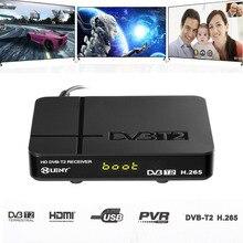 ONLENY HDMI 1080 P DVB-T/T2 Protocolo H.265 TV Box VGA AV sintonizador Receptor Digital Terrestre de Alta Definición Set Top Box de LA UE enchufe