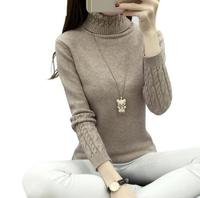 2017 Women Turtleneck Winter Sweater Women 2017 Long Sleeve Knitted Women Cashmere Casual Pullovers Female Jumper