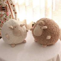Export Korea High Quality Ball Shape Sheep Stuffed Animal Plush Simulation Lamb Doll Toys for Children Room Decor Yoo In Na Same