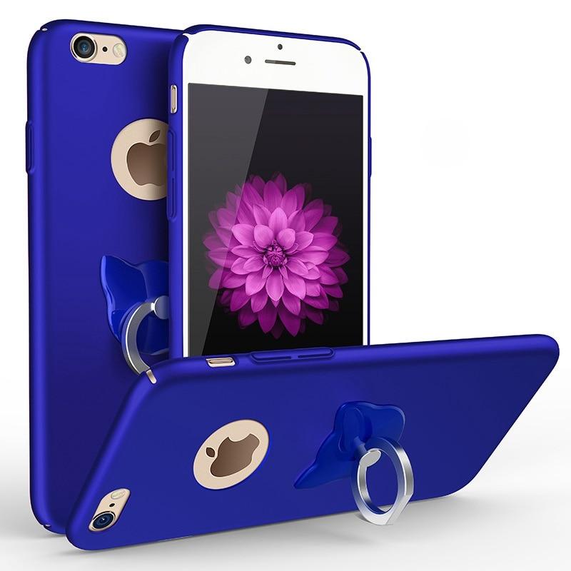 Cover For iPhone X 8 8 Plus Case Luxury Cat Ring Stand Case Painting Hybrid Back Cover For iPhone X 7 7 Plus Capa 6 6S Plus Case