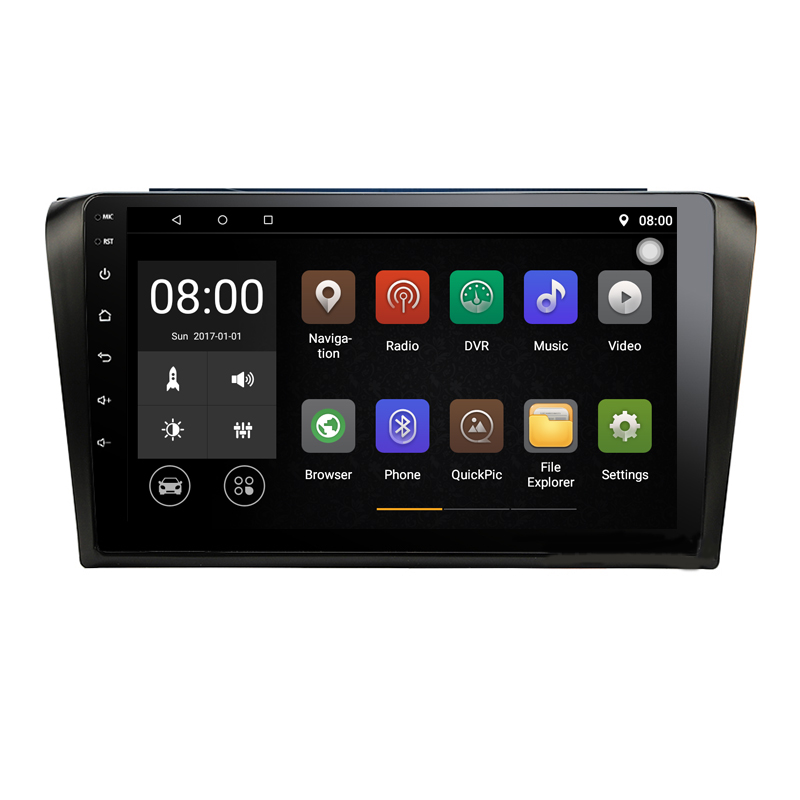 Quad Core Android 9.1 1G RAM Car Radio for Old Mazda 3 <font><b>Mazda3</b></font> 2006 <font><b>2007</b></font> 2008 2009 with GPS Navigation steering wheel Free map image