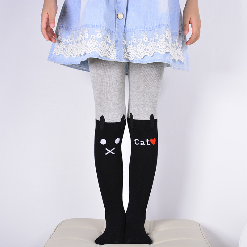 Spring-autumn-Girls-cartoon-cat-cute-pantyhose-kids-cotton-pantyhose-2