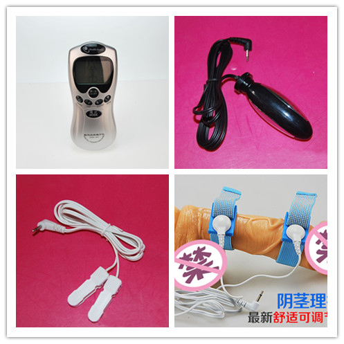Diy Male Electro Shock Rings Plug Clamps Toys For Man Woman Couple Electric Shock M Agers Set