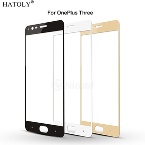 Image 5 - 1PCS Tempered Glass For Oneplus 3T Screen Protector One Plus 3 3T A3000 Full Cover for Oneplus 3T 2.5D Curved Edge Film HATOLY
