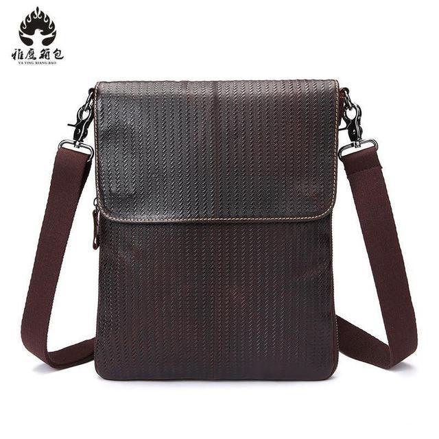 2018 New Brand Men Messenger Bags Promotion Genuine Leather Shoulder Handbags Casual