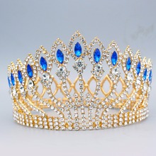 hot deal buy magnificent gold and silver crystal princess bridal tiara crowns bride headpiece women diadem wedding hair jewelry accessories
