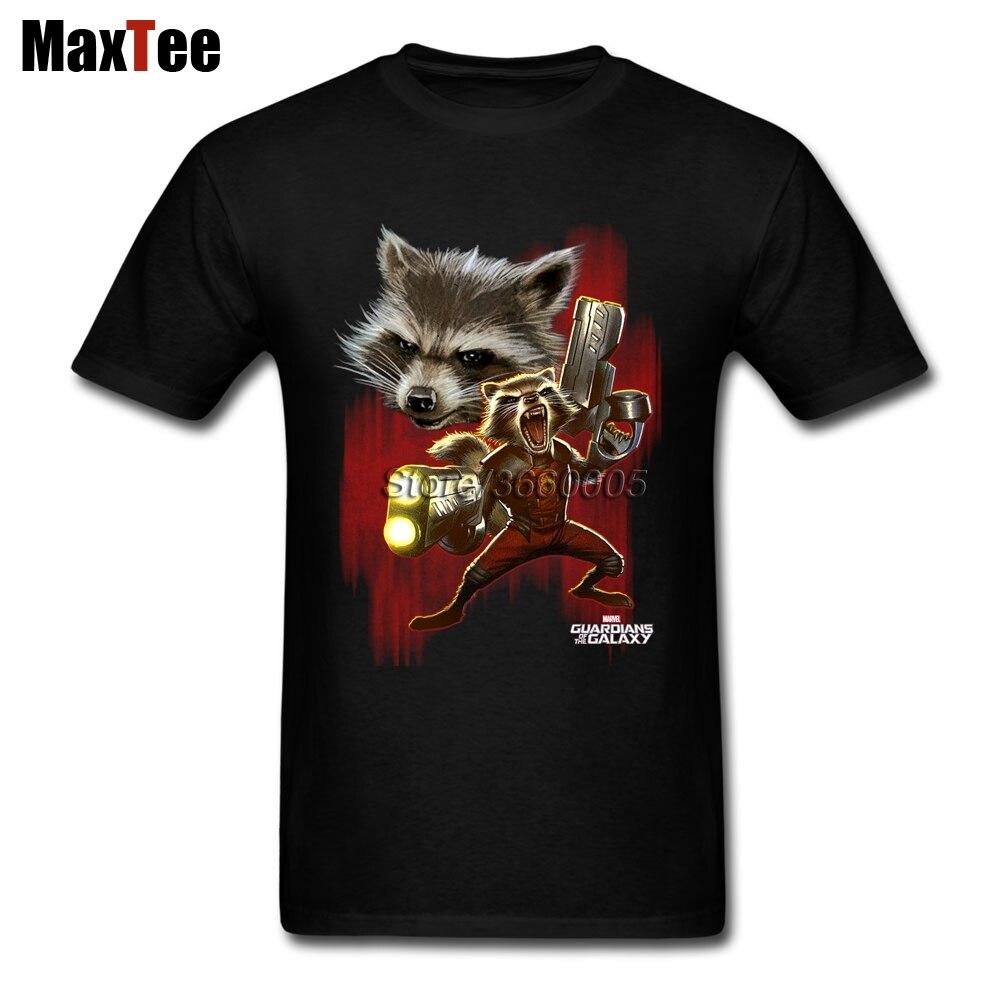 Twisted Rocket Racoon Tees Shirt Men Popular Custom Short Sleeve XXXL Couple Guardians Of The Galaxy Shirts