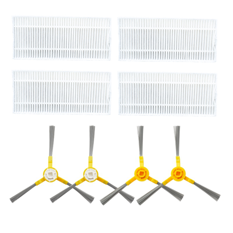 Image 2 - Side Brush Hepa Filter Mop Cloths Roller Brush for Neatsvor X500 Robot Vacuum Cleaner Accessories Roller Brush for Neatsvor X5Vacuum Cleaner Parts   -