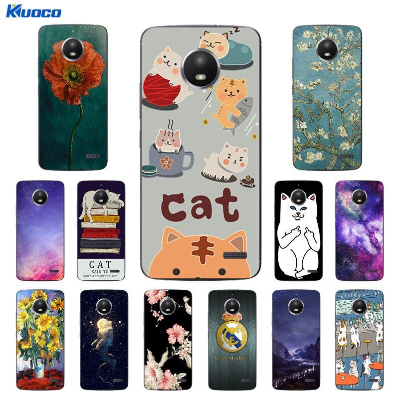 Cases for Motorola Moto E4 Cat Landscape Printing 5.0