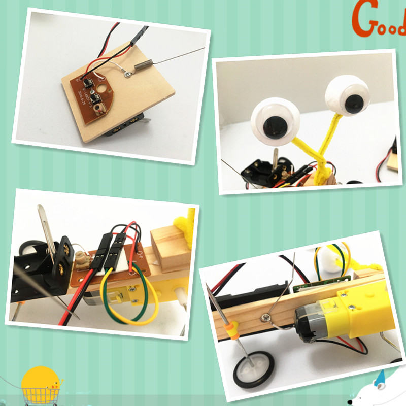 Izvedba eksperimentalnog eksperimenta Happyxuan Diy Telecontrol Robot - Izgradnja igračke - Foto 4