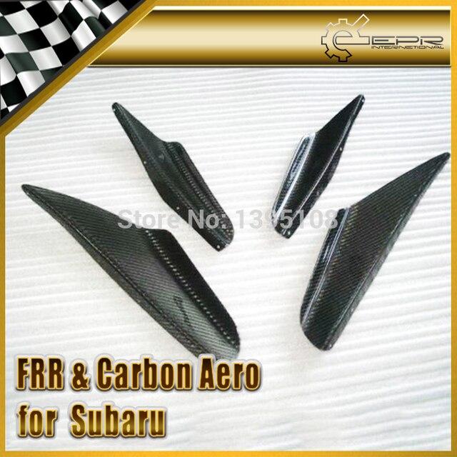 New Car Styling For Subaru Impreza 02-05 Carbon Fiber GDB Front Bumper Canard 4Pcs In Stock