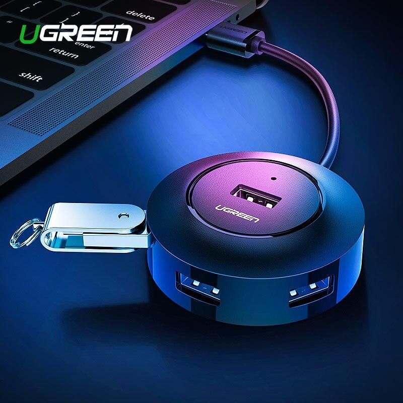 Ugreen USB HUB 4 Port USB 2.0 Splitter Schalter mit Micro USB Lade Port für iMac Computer Laptop Zubehör OTG HUB USB