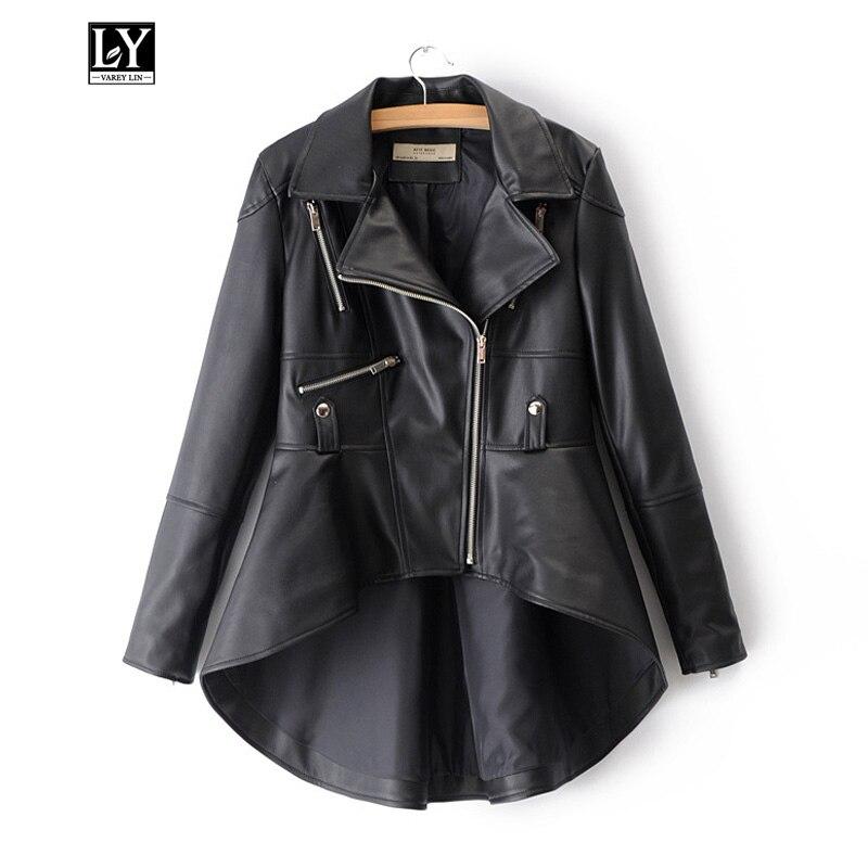 Ly Varey Lin Autumn Faux Soft   Leather   Women Jacket Black Pu Motorcycle Punk Coat Female Zipper Slim Faux   Leather   Outerwear