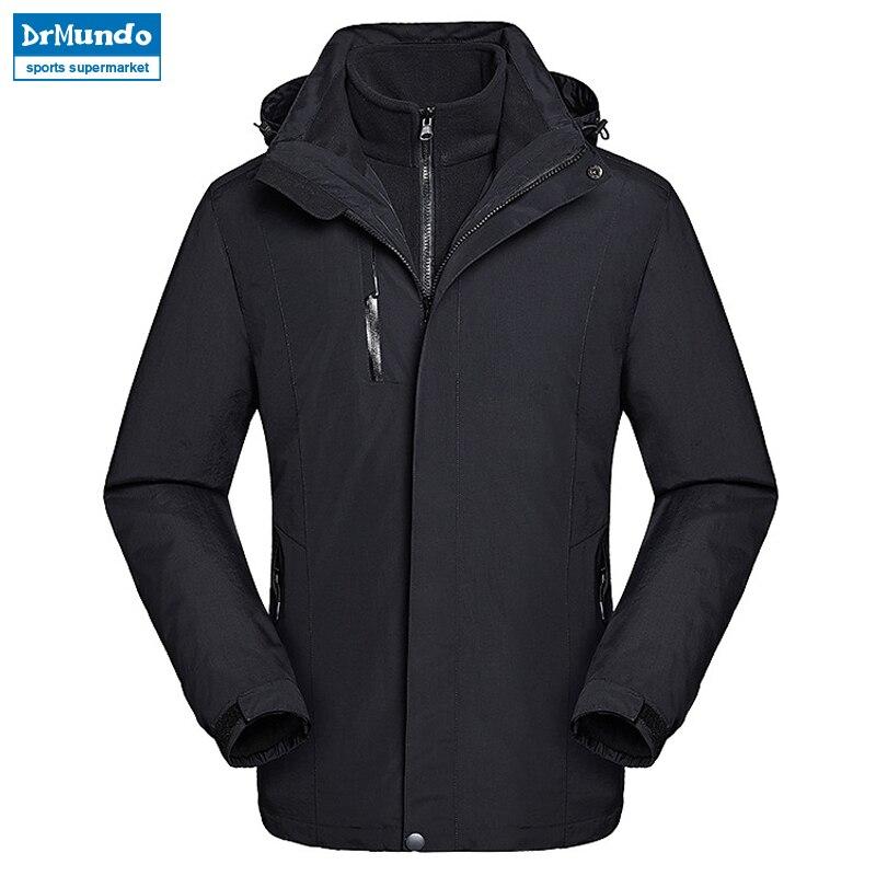 2018 veste de neige hommes imperméable veste de Ski hiver coupe-vent Ski costume thermique vêtements de Ski polaire montagne randonnée veste vêtements - 2