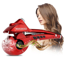 Steam Spray Spiral Automatic Hair Curler Professional Rotating Wand Curling Iron