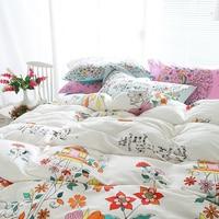 Coloré fleur lit ensembles home textile couvre-lits en gros couette ensemble oreiller + cas 100% coton ensemble de literie