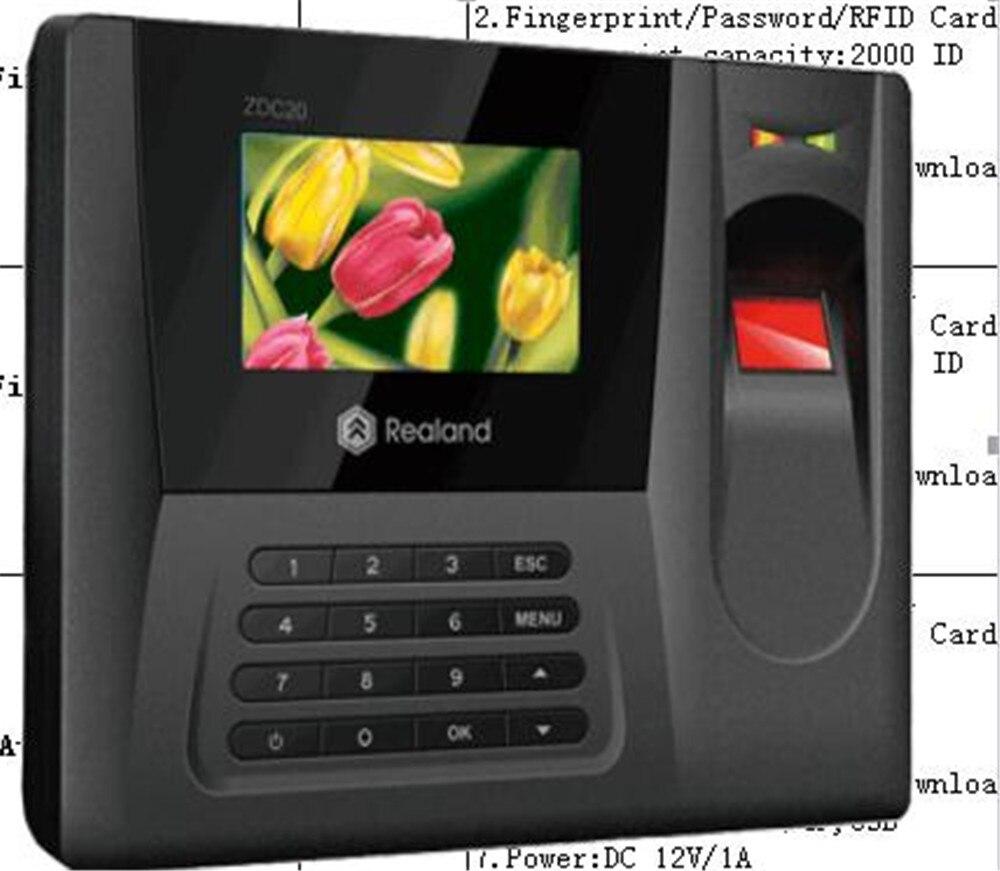 Système de présence de temps de carte d'empreinte digitale/mot de passe/RFID d'écran de couleur de TFT de 2.8 pouces AC020