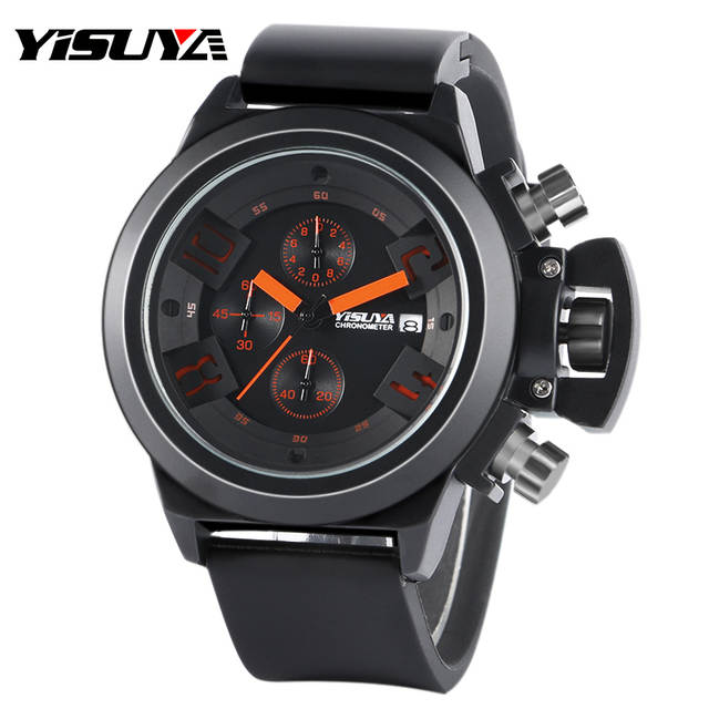 0056f14ab99 Online Shop YISUYA Top Brand Men s Watches Tactical Army Military Big Face  Sports Clock Silicone Japan Quartz Wristwatch Relogio Masculino