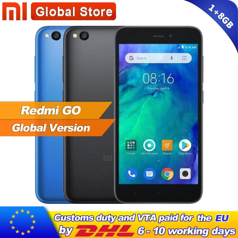 In Stock Global Version Xiaomi Redmi Go 8GB 1GB Telephone Snapdragon 425 Quad Core Phone 16