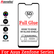 5D 6D 9D Full Glue Tempered Glass For Asus Zenfone 5Q 5 Lite ZC600KL Max Plus M1 ZB570TL ZB555KL Selfie ZB553KL Screen Protector