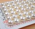 AAA lots 54 UNIDS (27 PARES) 10mm-10.5mm perlas de agua dulce botón cerca de mitad de la forma redonda la mitad del agujero
