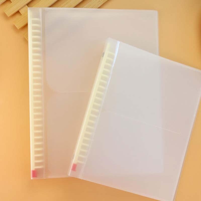 1PCS Matte Transparent Binder B5 Loose Leaf Cover Blank