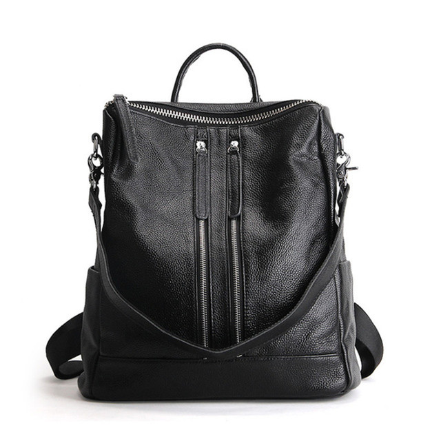 11a390e7a9db 2018 New Women Brand Designer bags Backpack School Bags For Teenagers Girls  Lady Genuine Leather Backpack Women Shoulder Bags
