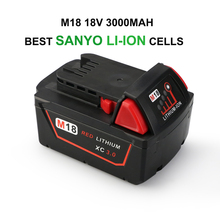 Melasta 18V 3000mAh Lithium-ion Battery for Milwaukee M18 Red XC 48-11-1815 48-11-1820 48-11-1840,Made of Best Sanyo Battery