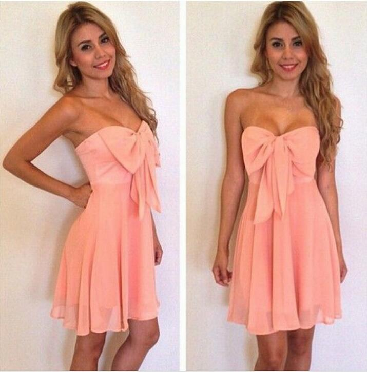 Popular Strapless Bow Dress-Buy Cheap Strapless Bow Dress lots ...