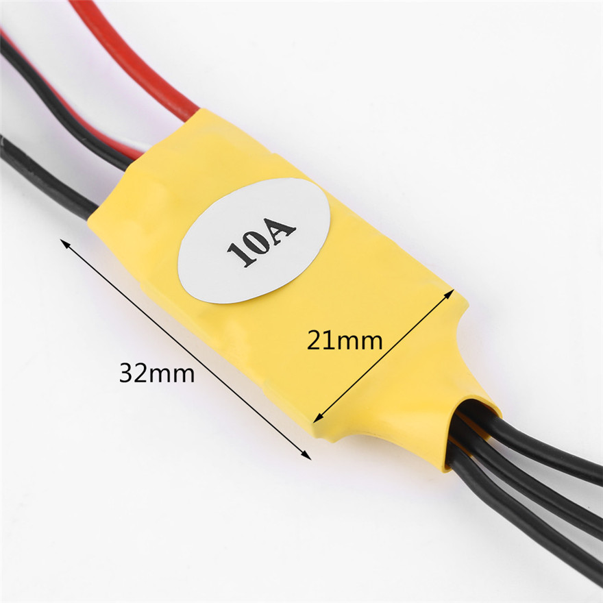 High Quality 10A Electronic Speed Controller RC ESC BEC For RC Helicopter Brushless Motor Toys Wholesale Free Shipping 3650 3900kv 4p sensorless brushless motor 60a brushless elec speed controller esc w 5 8v 3a switch mode bec for 1 10 rc car