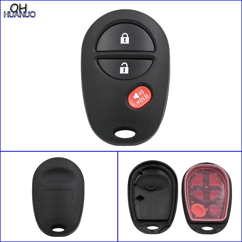 Car Key 2+1 Buttons Remote Control Key Fob Shell For Toyota Sequoia Avalon Solara 3 Button Automobiles & Motorcycles
